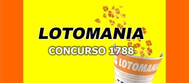 Resultado da Lotomania, 1788: sorteio desta terça-feira, dia 15