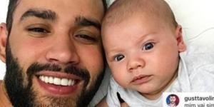 Gusttavo Lima dá lição em seguidora que fez piada com seu filho