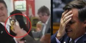 Jair Bolsonaro leva ovada em evento - Google