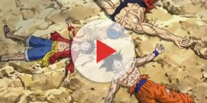 Son Goku, Luffy, and Toriko - YouTube/XSaiyanDeath screencap