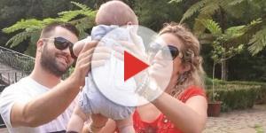 Diogo Camacho com a esposa Joana e o bebê Gustavo (Foto: Arquivo pessoal)