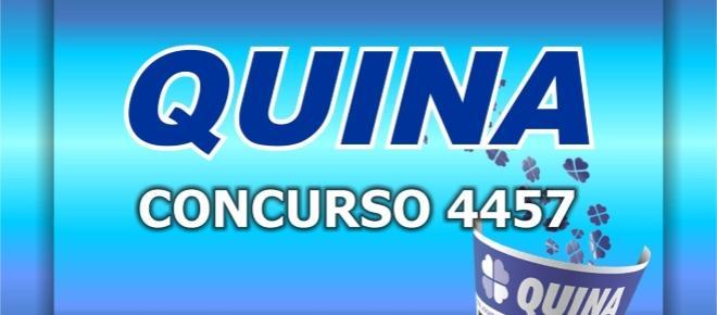 Resultado da Quina, 4457: sorteio de hoje (16/08)