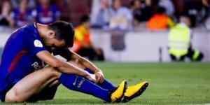 Leo Messi se lamenta en una de las acciones ante el Real Madrid