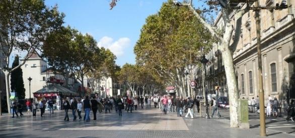 La Rambla street, where the attack took place, Barcelona | https://tinyurl.com/ybwx7fht