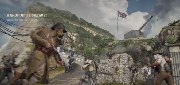 'Call of Duty: WWII' Hardpoint in the game shown in Gibraltrar & other maps