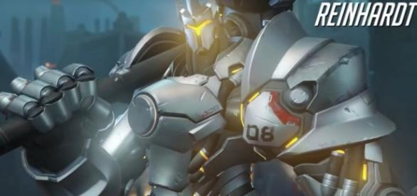 """Reinhardt is arguably one of the best tank heroes in """"Overwatch"""" (via YouTube/PlayOverwatch)"""