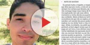 Mais um caso de suicídio anunciado através das redes sociais
