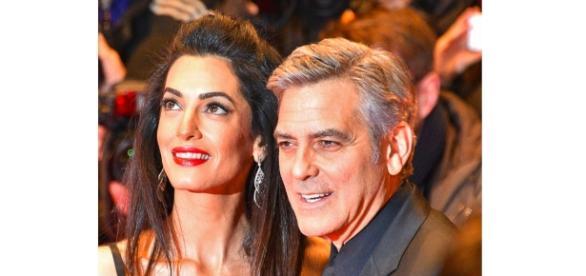 George and Amal Clooney. - Wikimedia