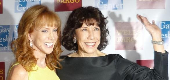 Say goodbye to the long wavy locks. Kathy Griffin (L) is going bald in solidarity with her sister. / from 'Flickr' - flickr.com
