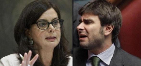 Scontro alla Camera sui vitalizi tra Alessandro Di Battista e Laura Boldrini