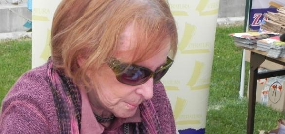 Wanda Chotomska w Pacanowie w 2012 r. (fot. Krzysztof Krzak)