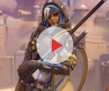 Ana is capable of healing her teammates while damaging her opponents at the same time (via YouTube/PlayOverwatch)