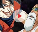 Imagen de Goku y Roshi de Dragon Ball Super