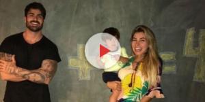 Casal ficou tão ansioso com a nova gravidez que Adriana fez ultrassom cedo demais