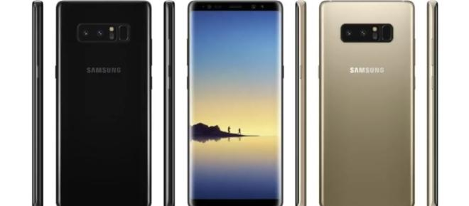 Galaxy Note 8 briefly appears on Samsung's website