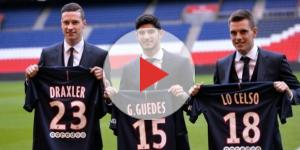 Draxler, Guedes & Lo Celso. Crédit photo : mercato365.com
