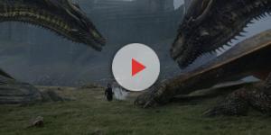 Viserion e Drogon no sexto episódio da sétima temporada de ''Game of Thrones''
