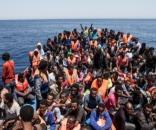 Migranti che partono dalla Libia diretti in Italia