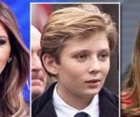 Melania and Barron Trump & Chelsea Clinton, via YouTube