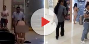 Jovem tira a roupa dentro shopping (Foto: Captura de vídeo)