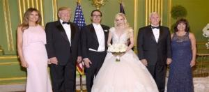 This photo with the Trumps will cost Louise Linton an invitation to appear in Vogue. Image credit - USA Today/YouTube