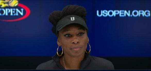 Venus Williams during a press conference at 2017 US Open/ Photo: screenshot via WeAreTennis channel on YouTube