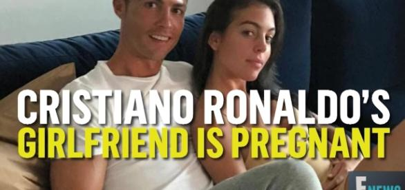 Cristiano Ronaldo's girlfriend showed off baby bump for a magazine photo shoot. Image via YouTube/E!NEws