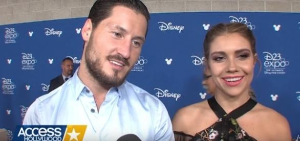 Val Chmerkovskiy and Jenna Johnson gushed about each other on social media. (YouTube/Acess Hollywood)
