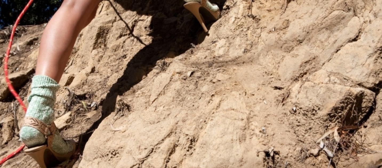 Elicottero Ortisei : Alto adige bloccata in vetta con i tacchi a spillo chiede