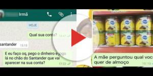 Conversas entre irmãos no Whatsapp. Foto: Reprodução/Twitter