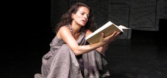 """Nicole Ansari in """"I Am Antigone"""". / Photo via Wai Wing Lau, used with permission."""
