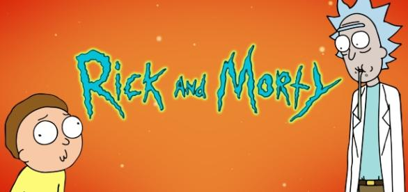 'Rick and Morty' with orange background. Credits - lelnoob Twitter.com