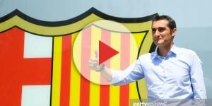 Barcelona's new coach Ernesto Valverde (R) and Barcelona's ... - gettyimages.co.uk