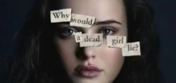 "A photo showing one of the posters for ""13 Reasons Why"" - YouTube/Laura Balderrama"