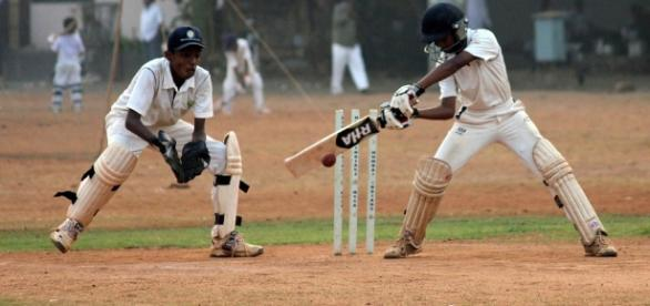 Cricket is a very popular sport in India.Photo credit https://pixabay.com/en/wicketkeeper-cricket-batsman-390195/