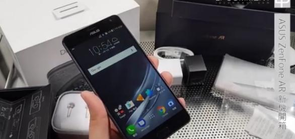 Unlocked version of ASUS ZenFone AR available Image via PhoneCom W/Youtube screenshot