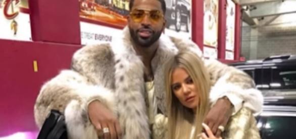 Khloe Kardashian and Tristan Thompson in an undated photo - YouTube/Wochit Entertainment