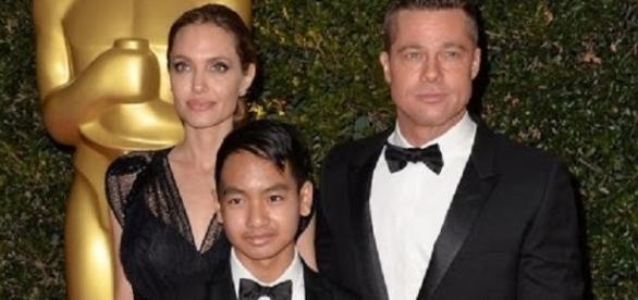 Angelina Jolie and Brad Pitt with son Maddox - Inside Edition/YouTube Screenshot