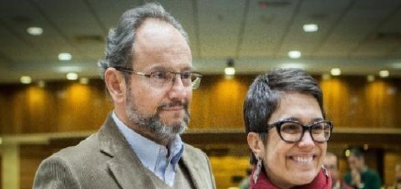 Ernesto Paglia e Sandra Annenberg, repórteres da Globo e casados na vida real