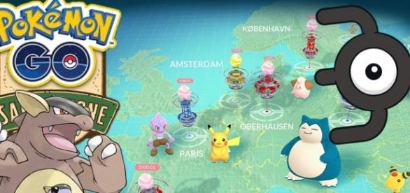 'Pokemon Go' region-exclusive Kangaskhan, Unown and others seen in Europe(becauselife/YouTube Screenshot)