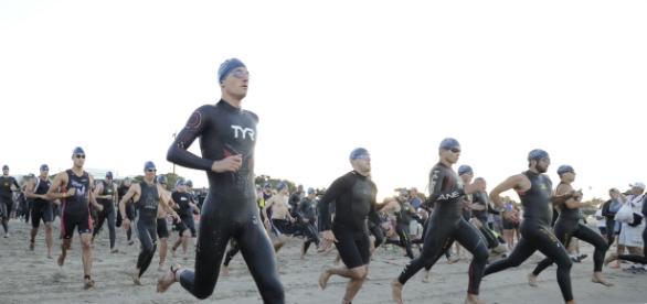 The Nautica Malibu Triathlon is held annually and benefits cancer research. / Photo via Denisa Caldova, used with permission.