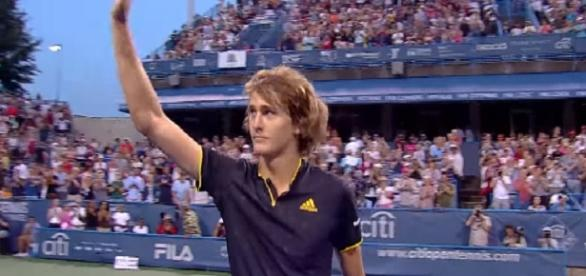 Alexander Zverev at City Open in Washington D.C./ Photo: screenshot via ATP World Tour official channel on YouTube