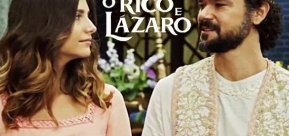 Daniel e Lia se casam na novela ''O Rico e Lázaro''