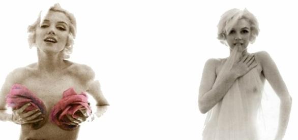 La última sesión de fotos de Marilyn Monroe fue recreada por Lindsay Lohan en 2008 para la New York Magazine.