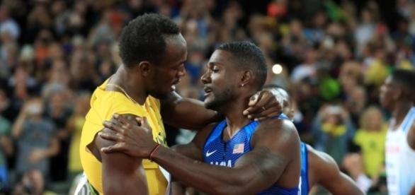 Usain Bolt gracious in defeat as he congratulates Justin Gatlin - thesun.co.uk