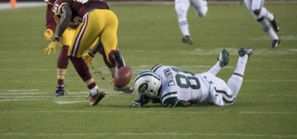 Quincy Enunwa Jets at Redskins 8/19/16 by Keith Allison via Flickr