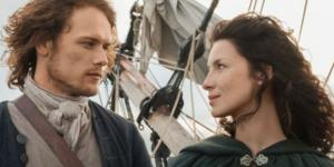 "The ""Outlander"" Season 3 showrunner has detailed the fate of Sam Heughan and Caitriona Balfe's characters. Photo by Elena Vas/YouTube Screenshot"