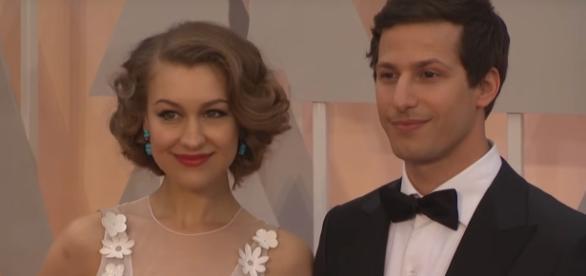 Andy Sanberg, Joanna Newsom and The Lonely Island Red Carpet Fashion (Oscars 2015) via ScreenSlam You Tube Channel
