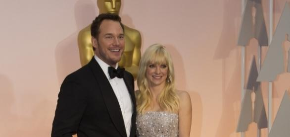 A photo showing Chris Pratt and Anna Faris during the Oscars in 2015 - Flickr/Disney | ABC Television Group