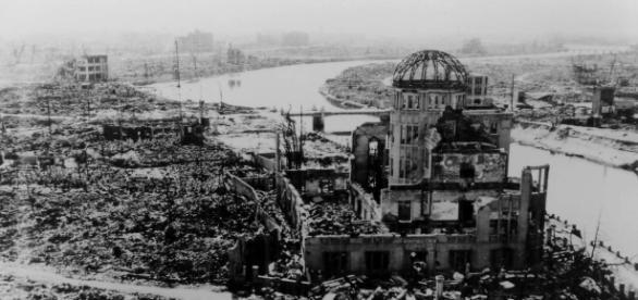 Hiroshima dopo la bomba all'uranio (foto Hiroshima Atomic Bomb Museum